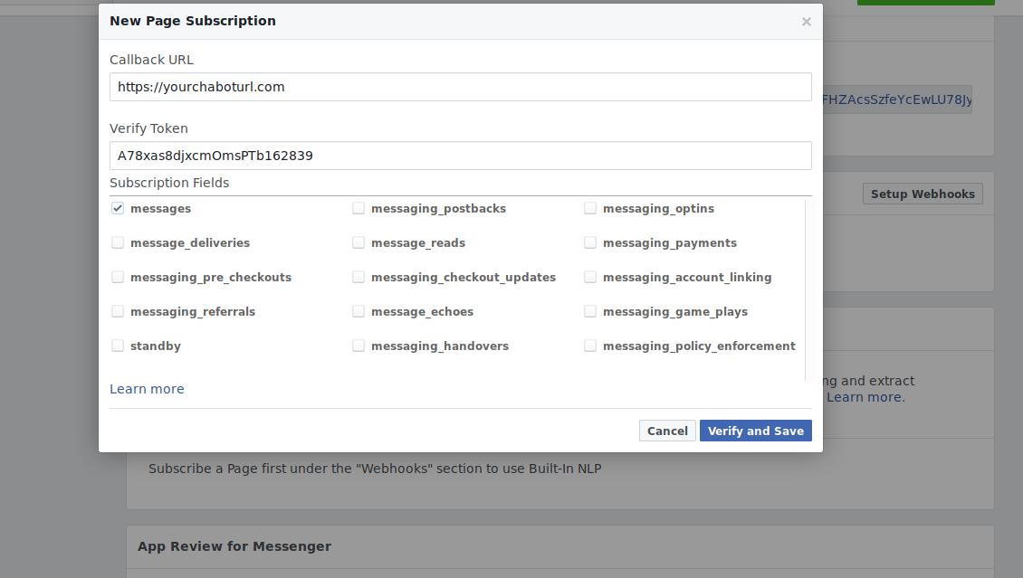 Facebook Chat bot Python