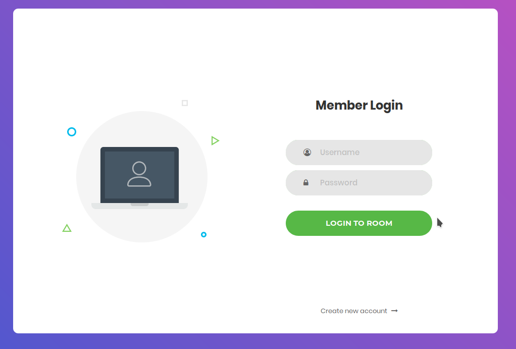 login with css